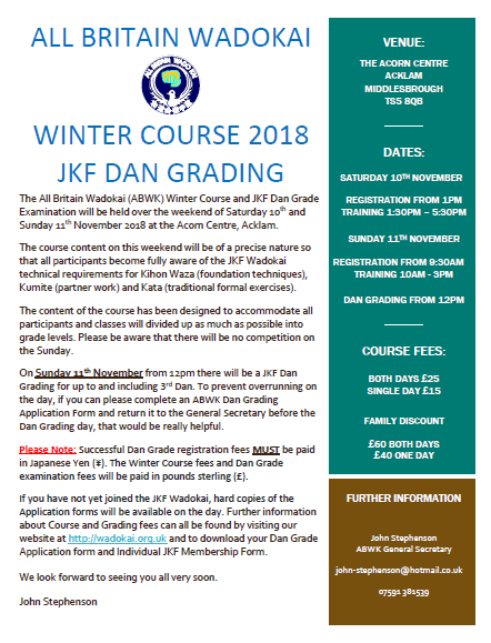 ABWK Winter Course 2018