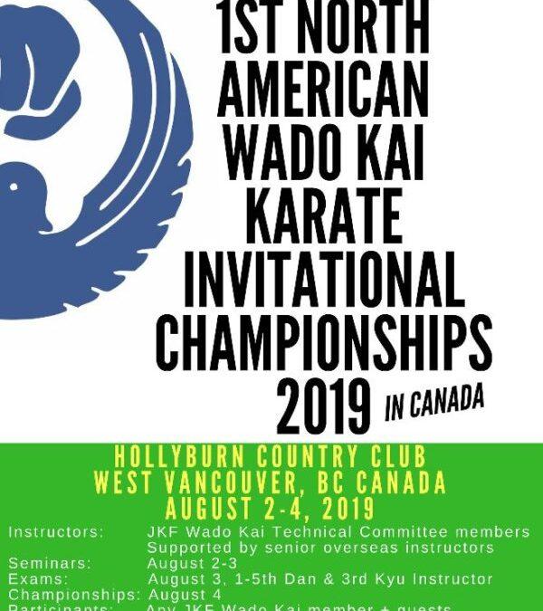 1st North American Wadokai Karate Championships & Seminars