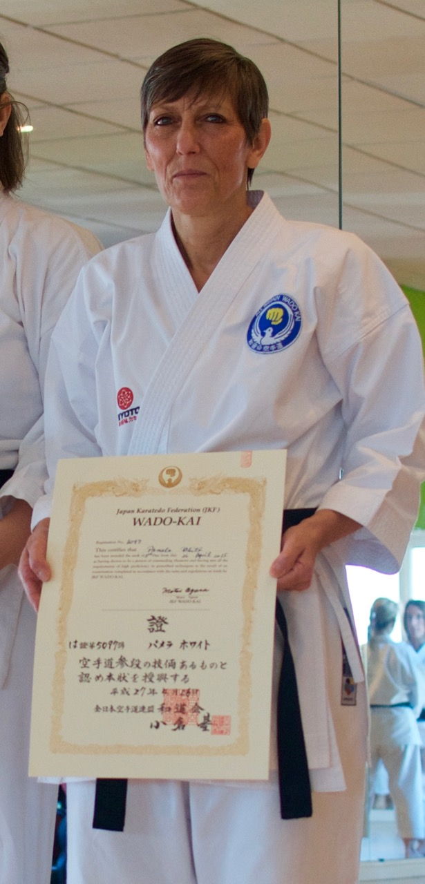 Pam White – 4th Dan JKF Wadokai
