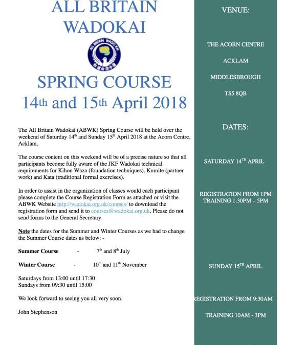 ABWK Spring Course 2018