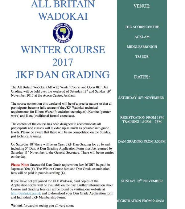 Winter Course 2017